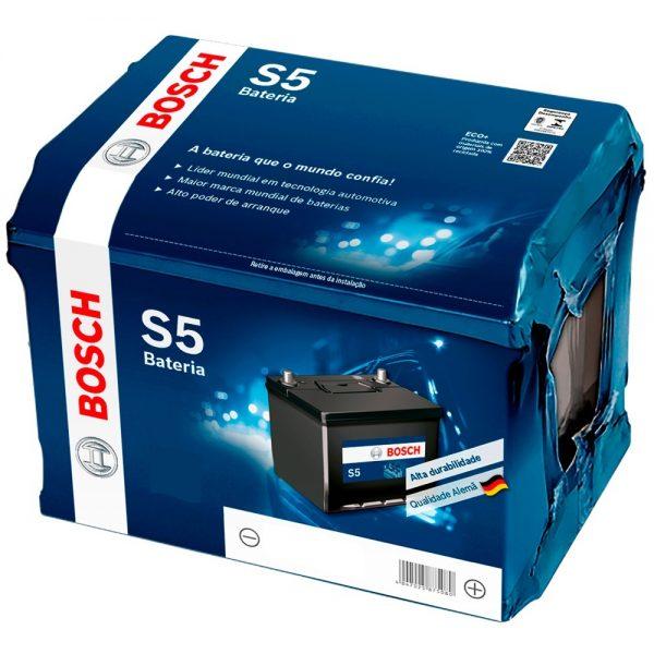 Bateria Automotiva Bosch S5 42AH (Picanto) com 18 meses de garantia. Baterias de qualidade é na Varejão das Baterias. Acesse nosso site e encomende a sua.