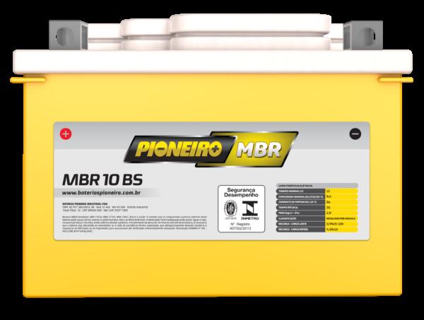 Bateria de Moto Pioneiro MBR 10-BS | Varejão das Baterias