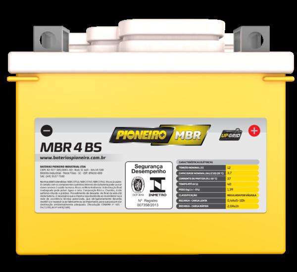 Bateria de Moto Pioneiro MBR 4-BS   Varejão das Baterias