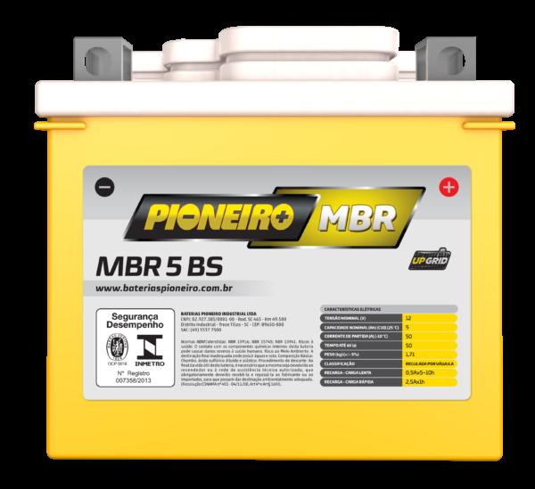 Bateria de Moto PioneiroMBR 5-BS   Varejão das Baterias