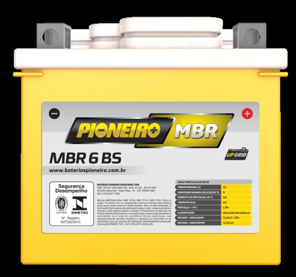 Bateria de Moto Pioneiro MBR 6-BS