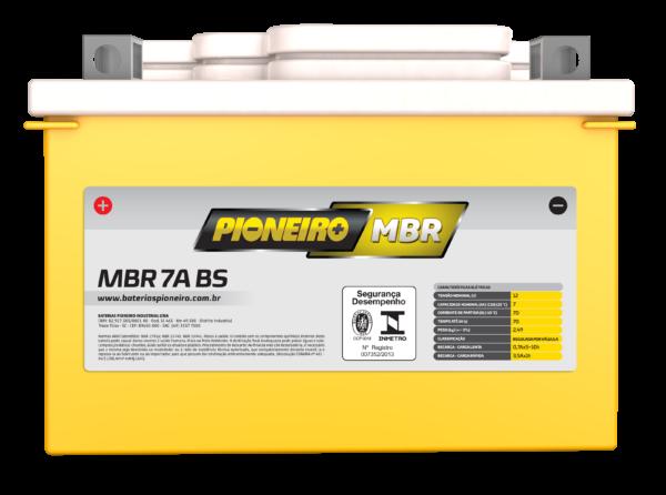 Bateria de Moto Pioneiro 7A-BS