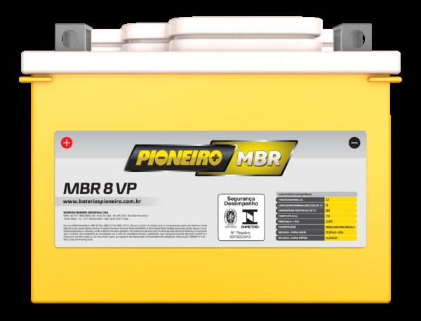 Bateria de Moto Pioneiro MBR 8-VP