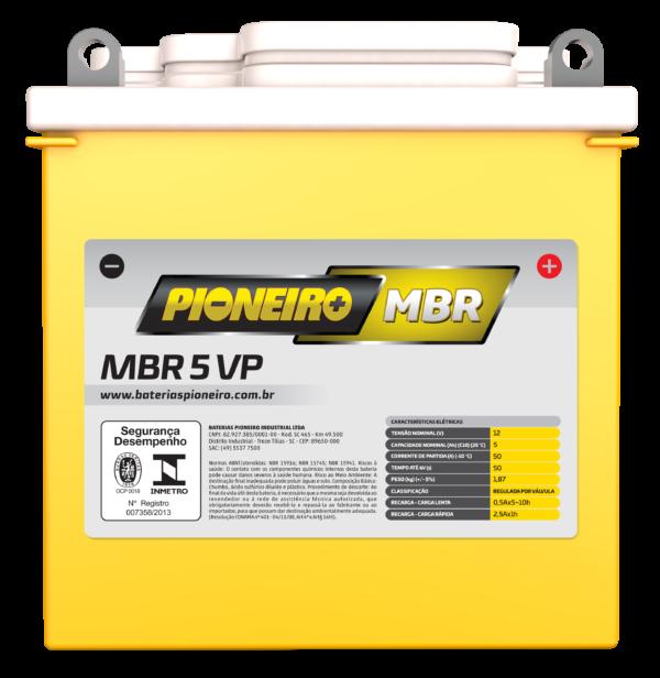 Bateria de Moto Pioneiro MBR 5-VP