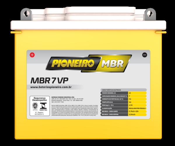 Bateria de Moto Pioneiro MBR 7-VP