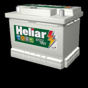 Bateria Automotiva Heliar 60AH Super Free